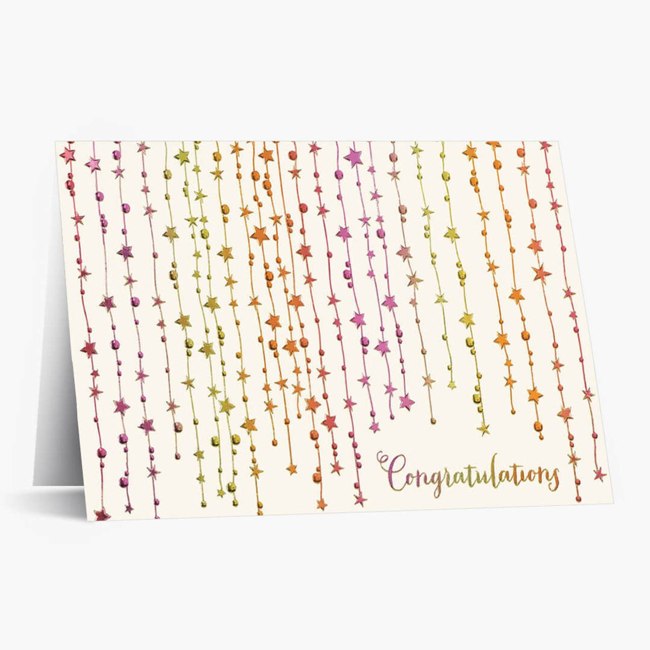 Star Streamers Congratulations Card