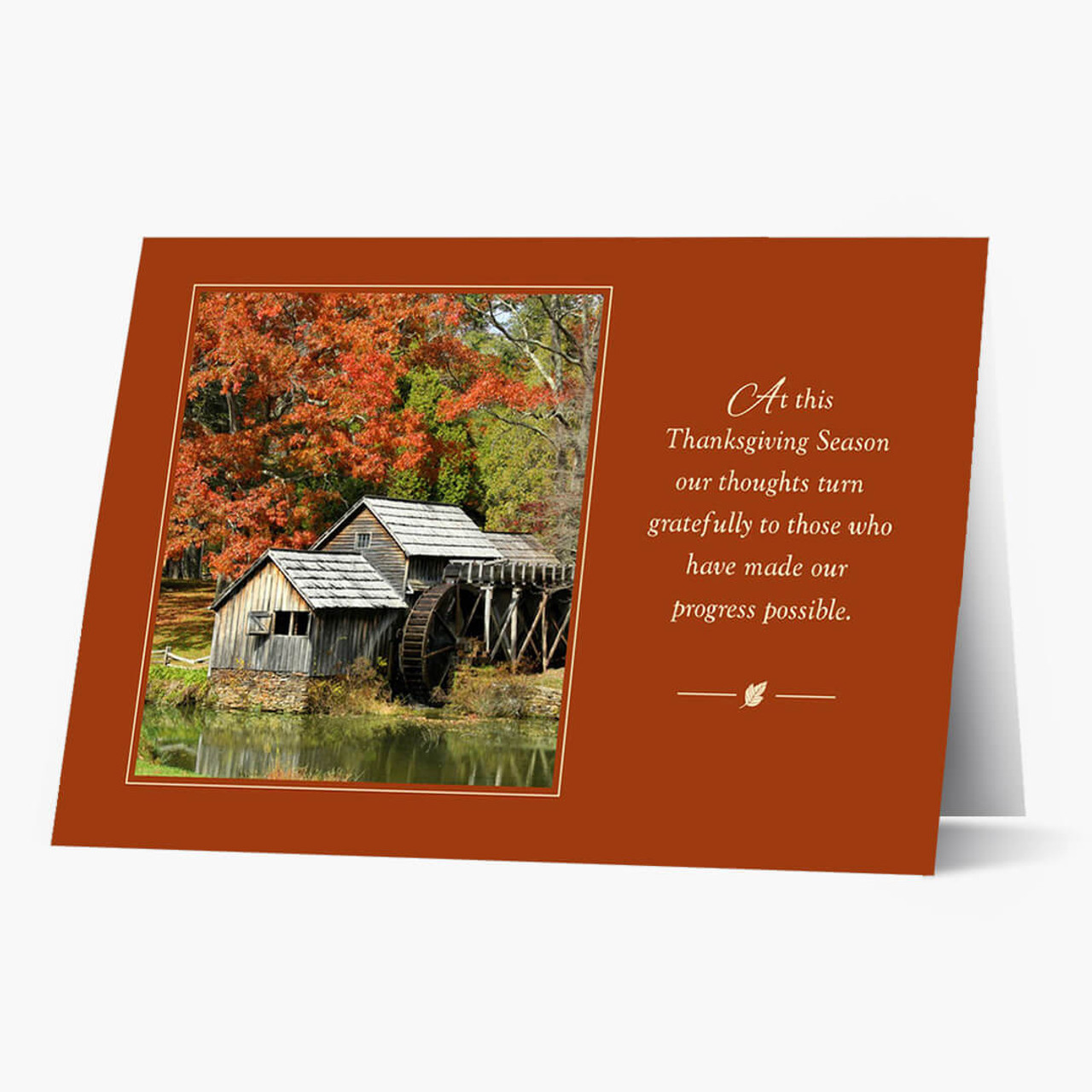Autumn Gratitude Thanksgiving Card