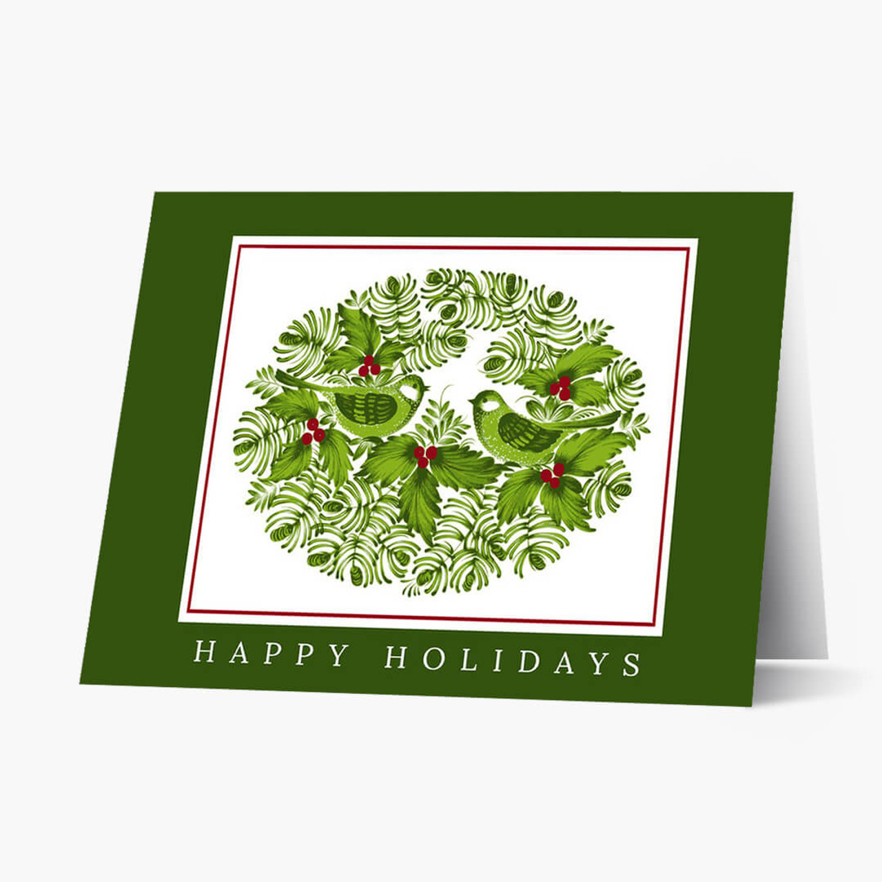 Berries and Birds Christmas Card