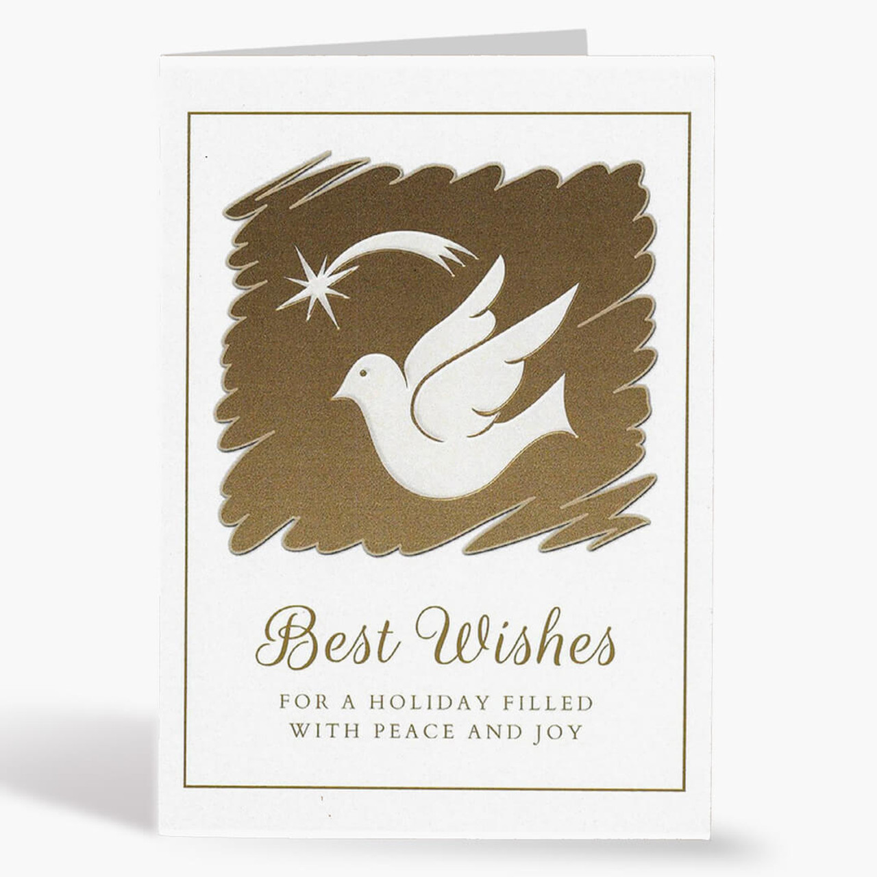 Dove and Star Christmas Card