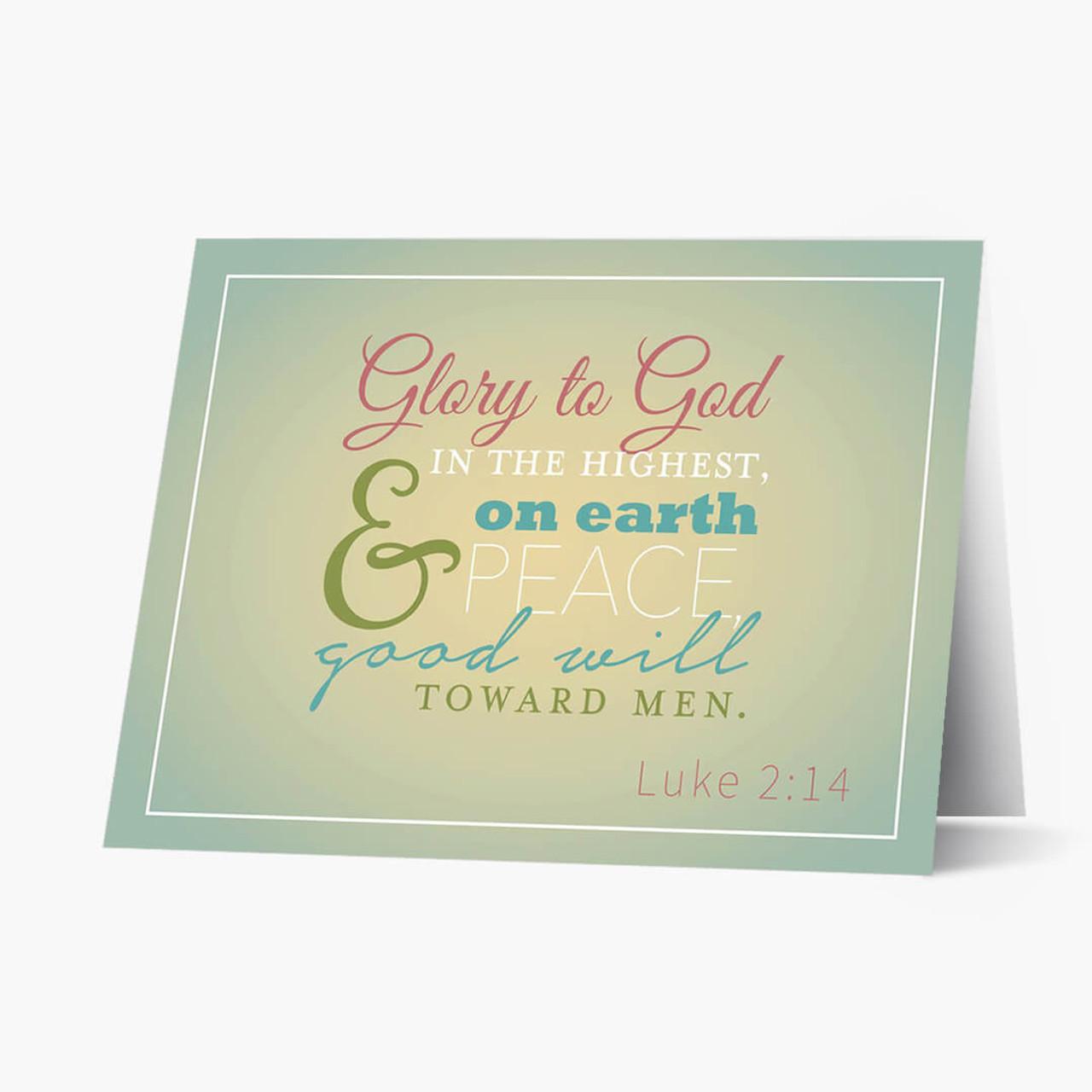 Glory To God Christmas Card