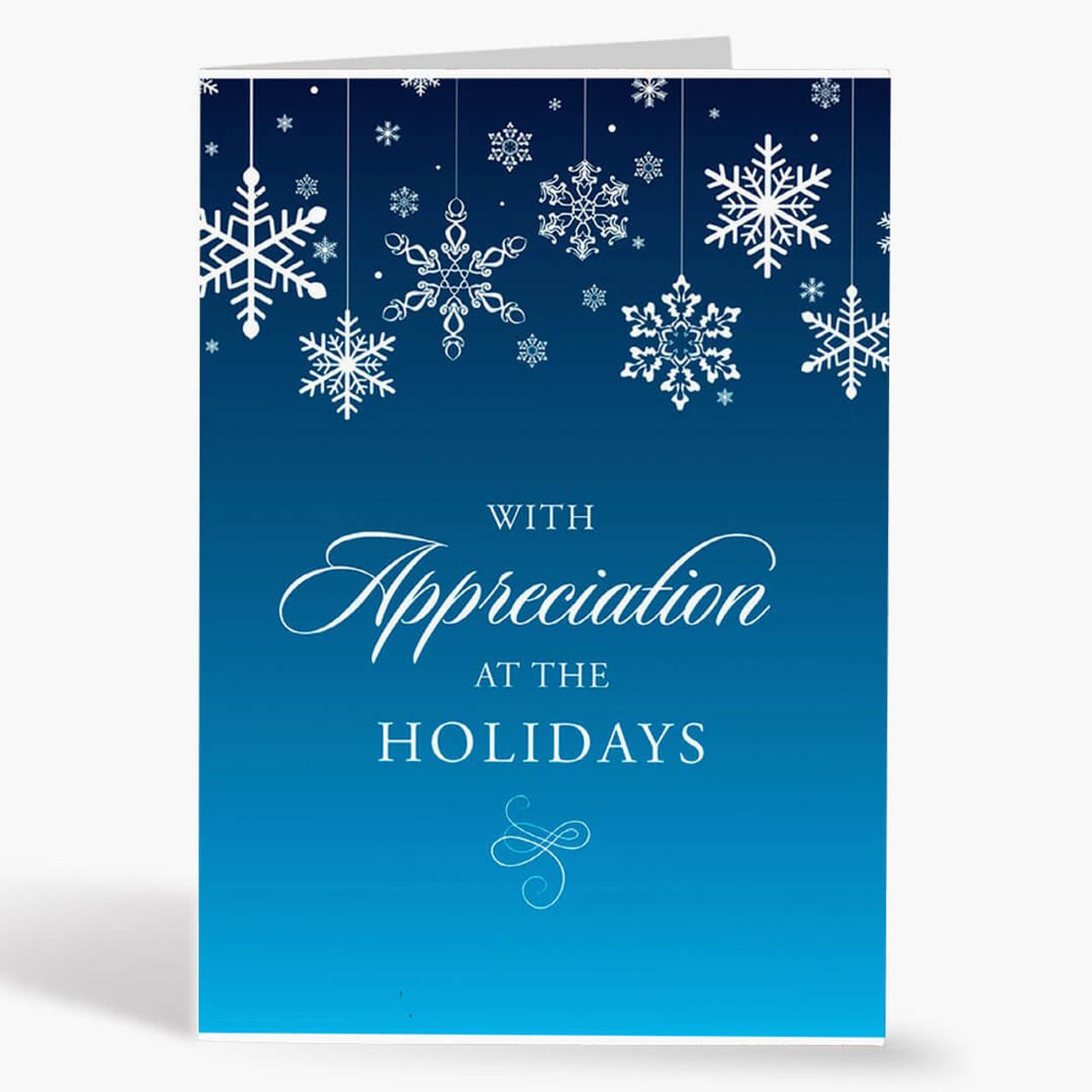 Appreciation Snowflake Thanksgiving Card