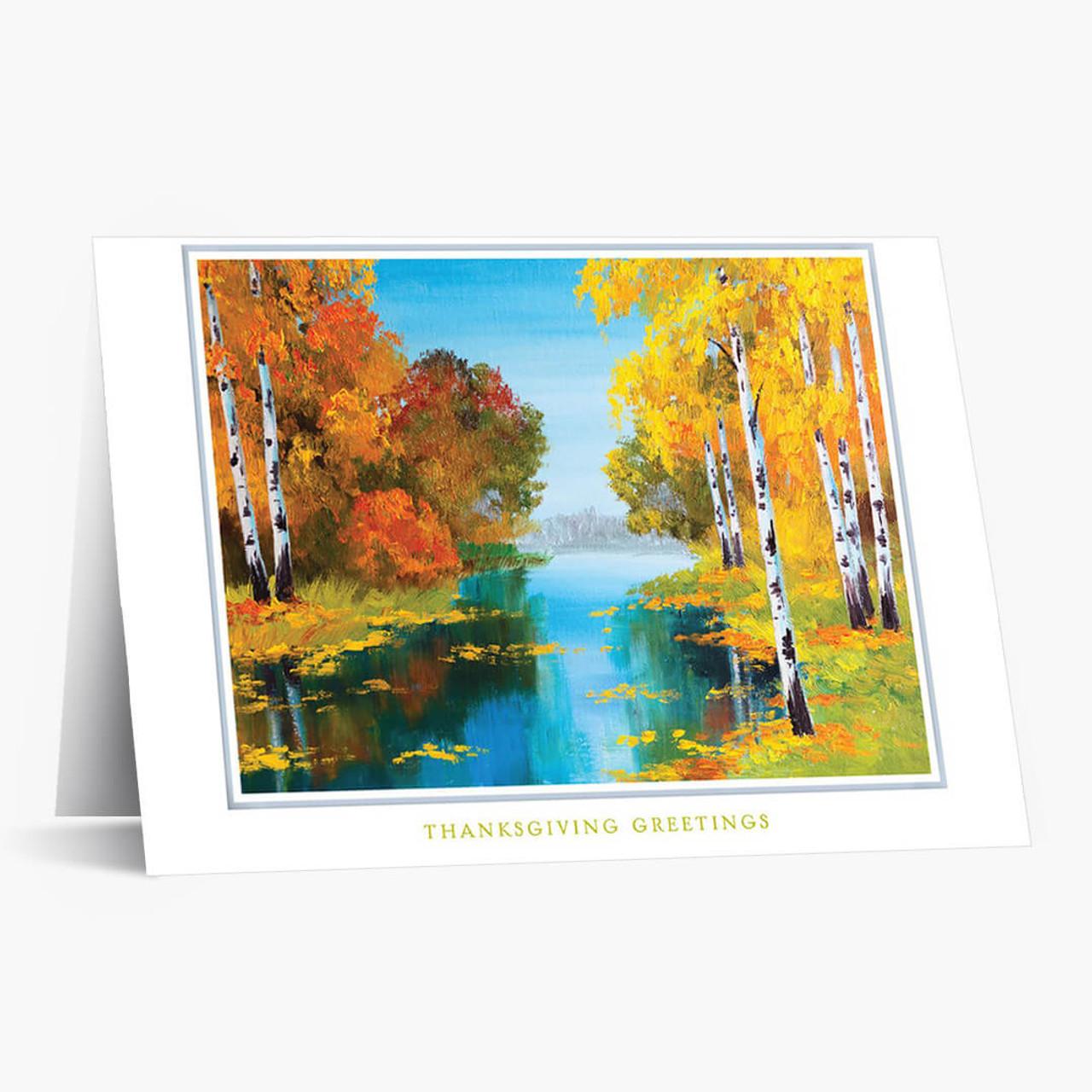 Colorful Landscape Thanksgiving Card