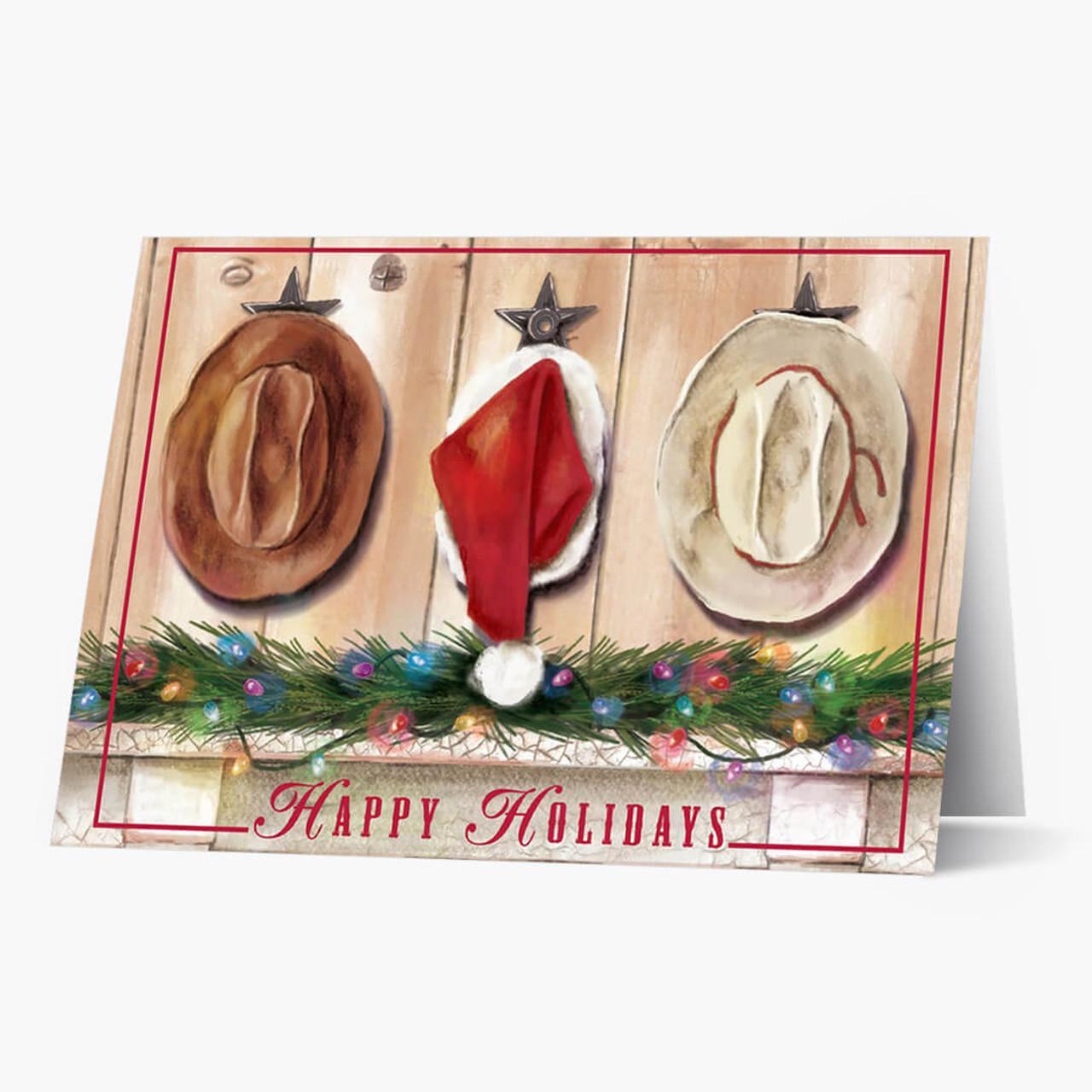 Holiday Hats Christmas Card