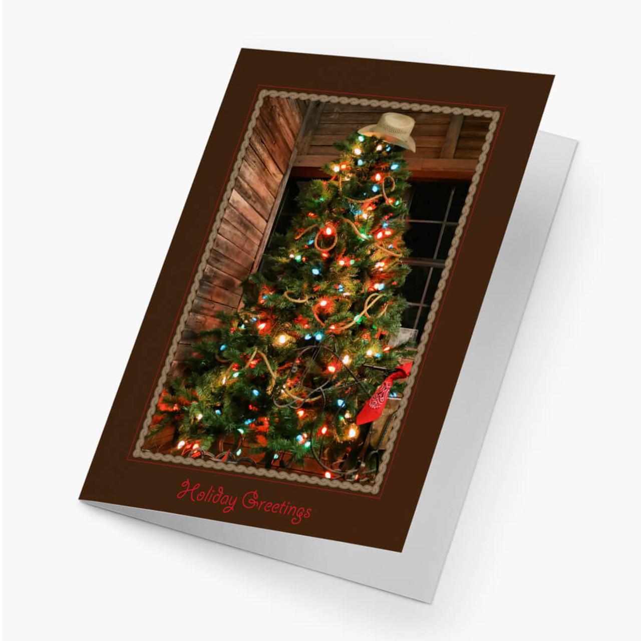 Cowboy Christmas Tree Card