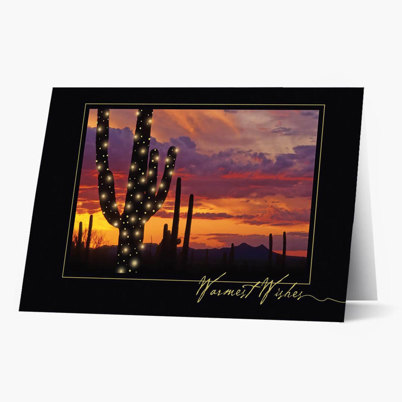 Holiday Cactus Christmas Card