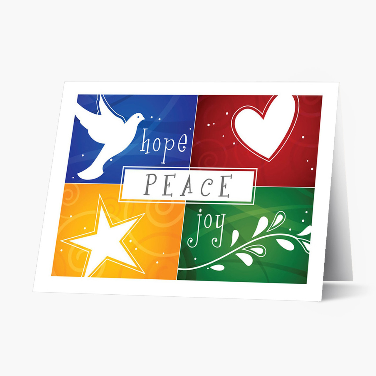 Colorful Wishes Christmas Card