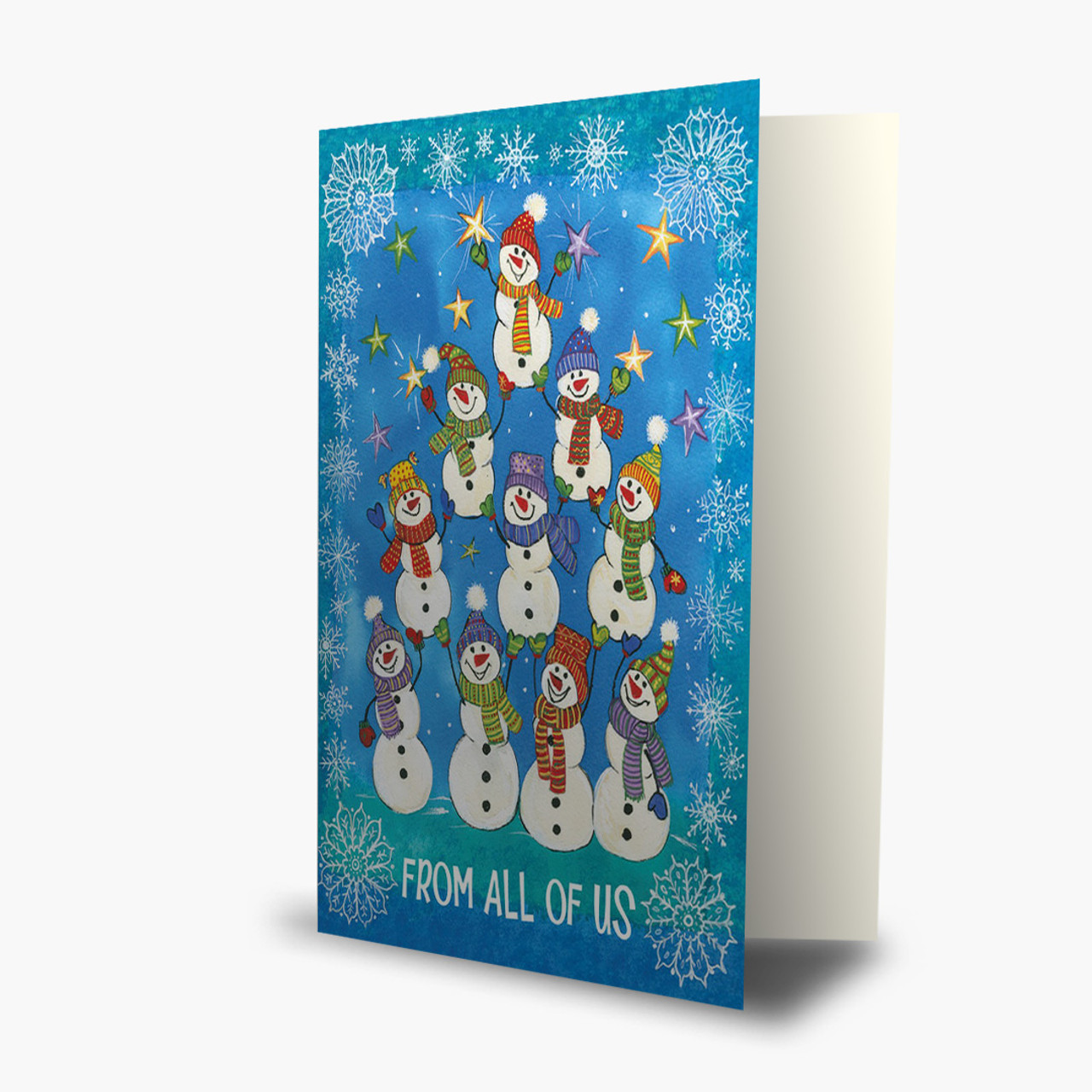 From All Of Us Snowmen Christmas Card