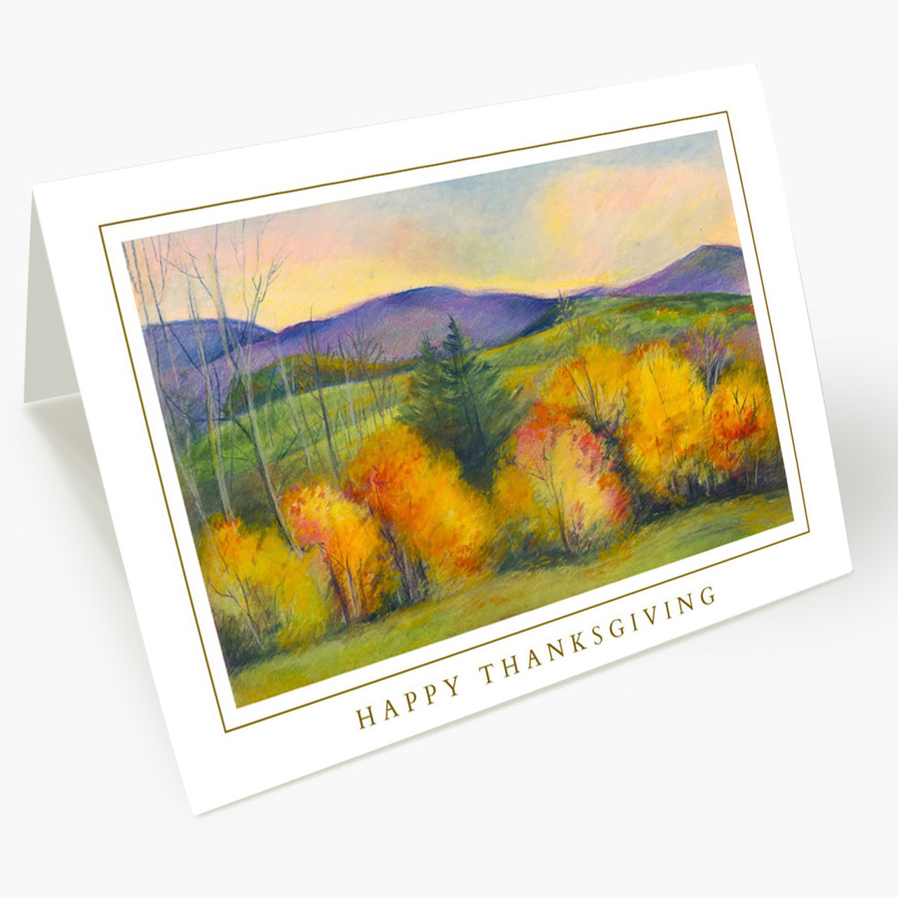 Autumn Painting Thanksgiving Card