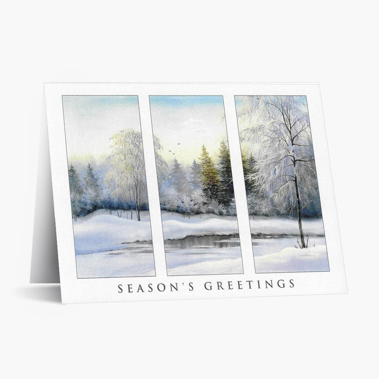 Scenic Triptych Christmas Card