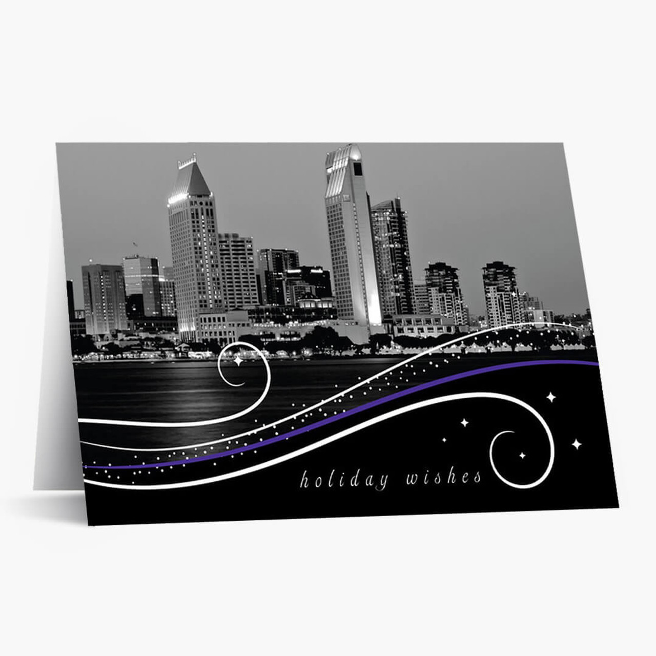 San Diego Swirls Christmas Card