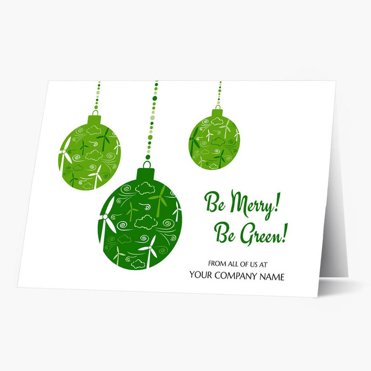 Wind Energy Ornaments Christmas Card