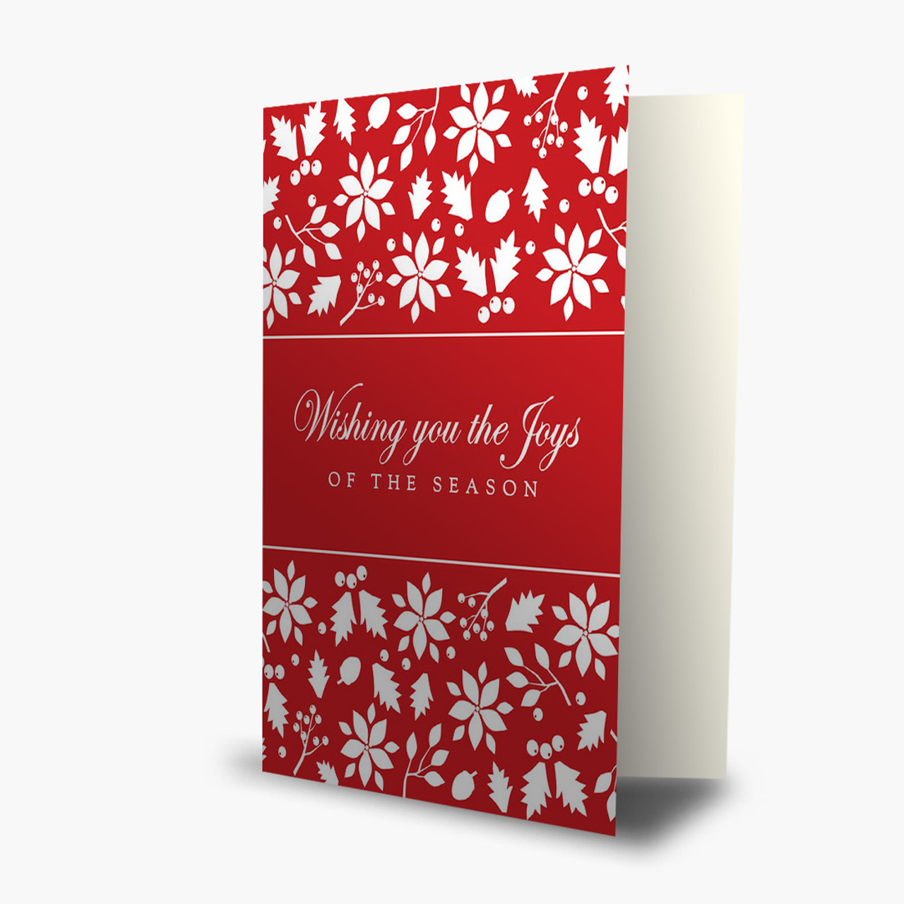 Berries and Pine Cones Christmas Card