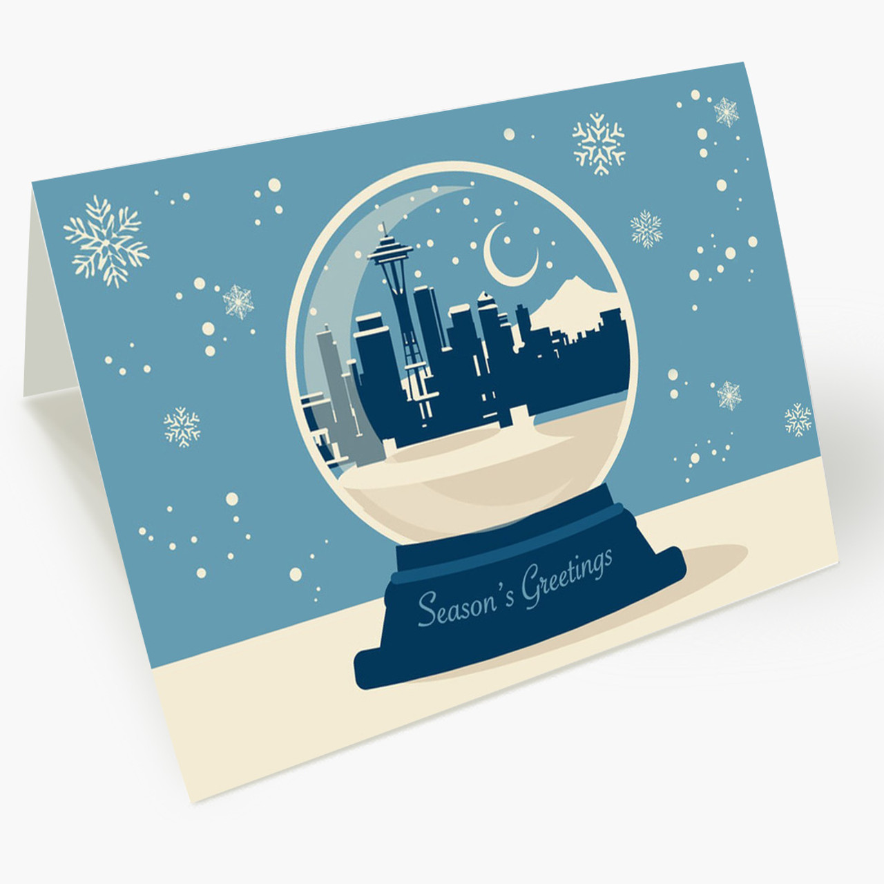 Seattle Snowglobe Christmas Card