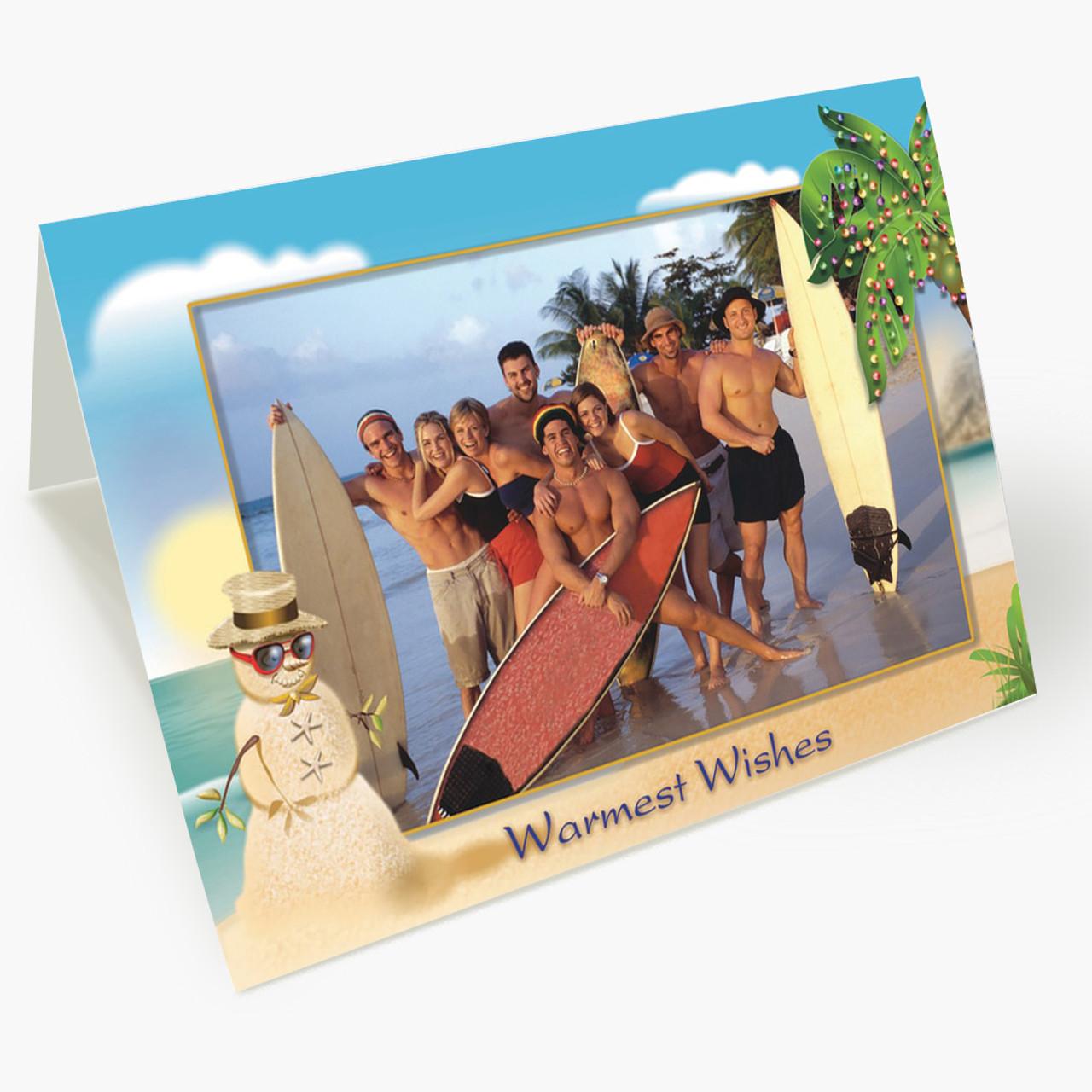 Tropical Paradise - Matte Finish Christmas Card