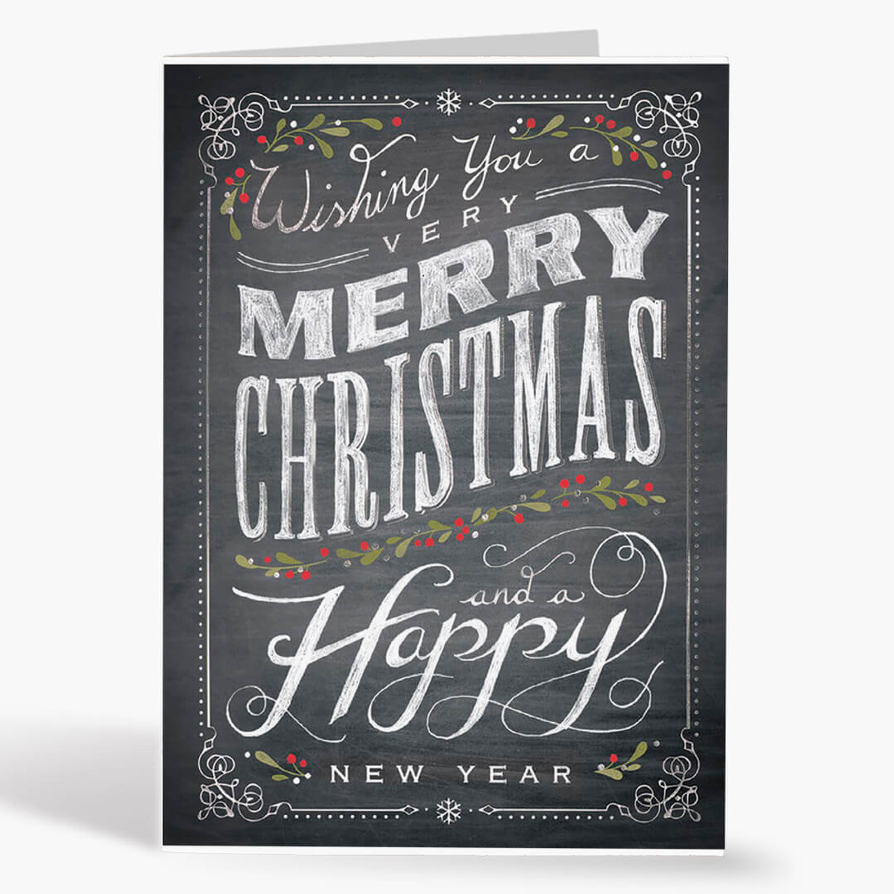 Chalkboard Merry Christmas Card