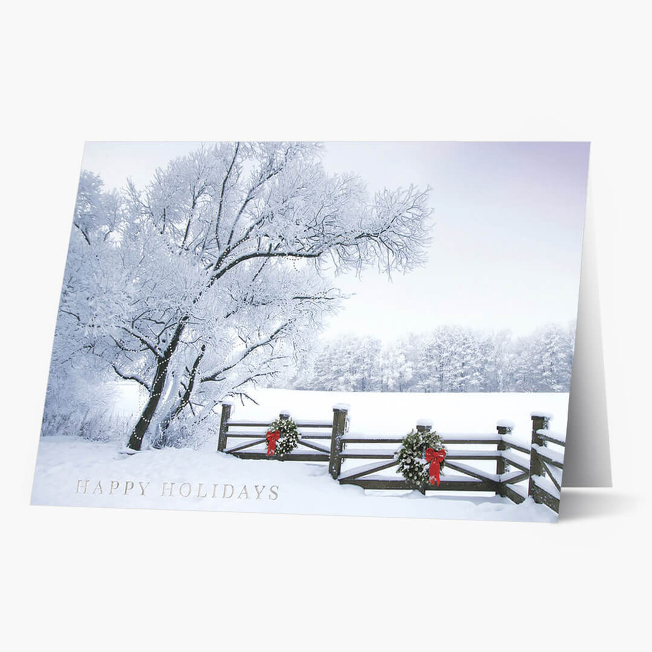 Frosty Winter Landscape Christmas Card