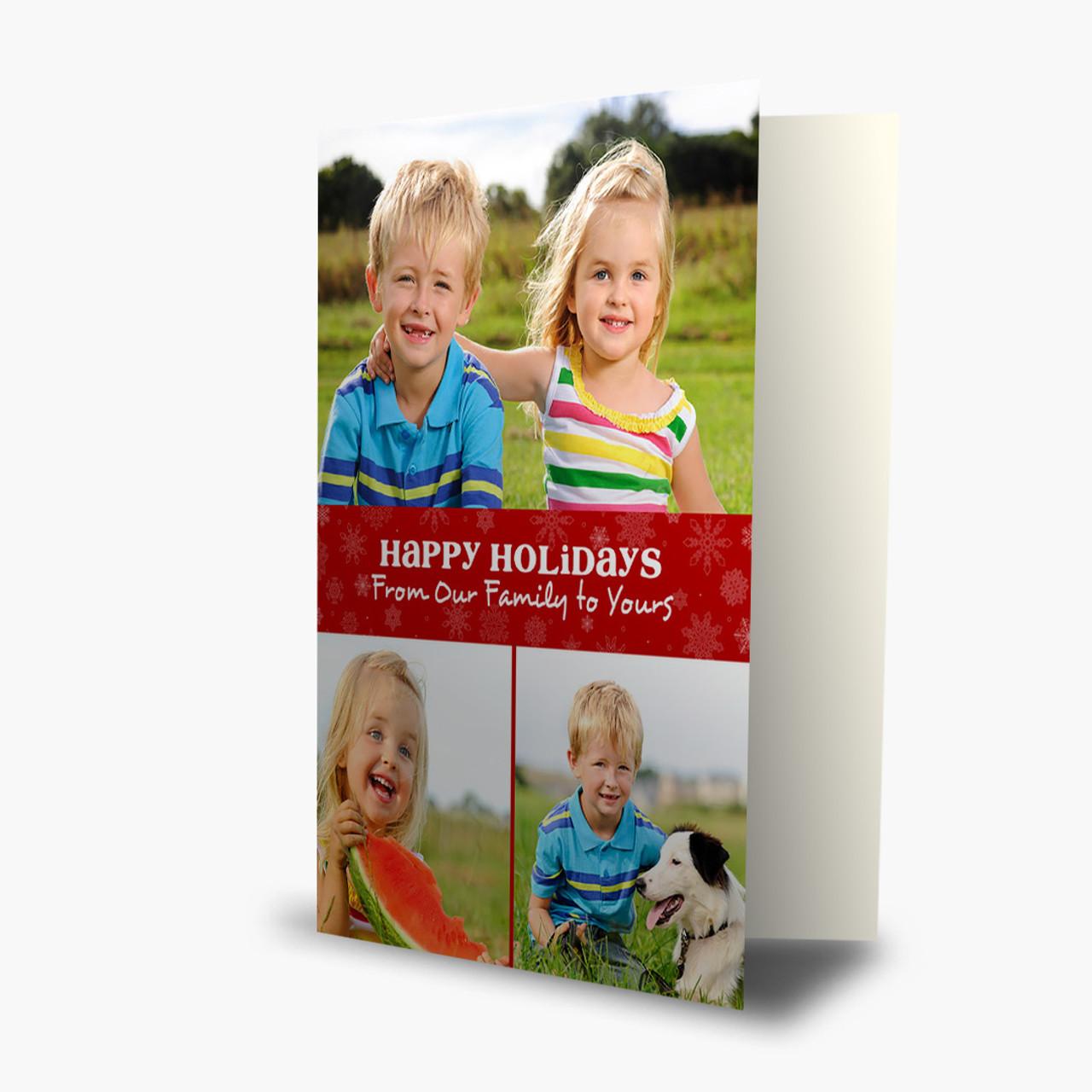 Three Photos - Matte Finish Christmas Card