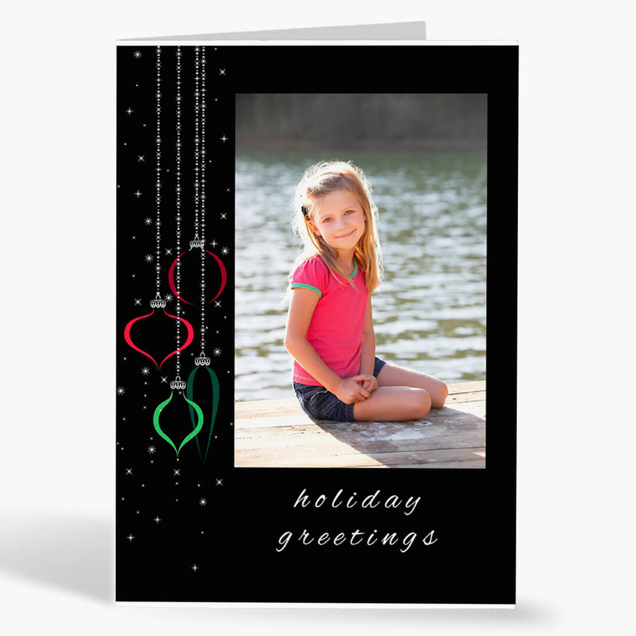 Twinkling Ornament - Matte Finish Christmas Card
