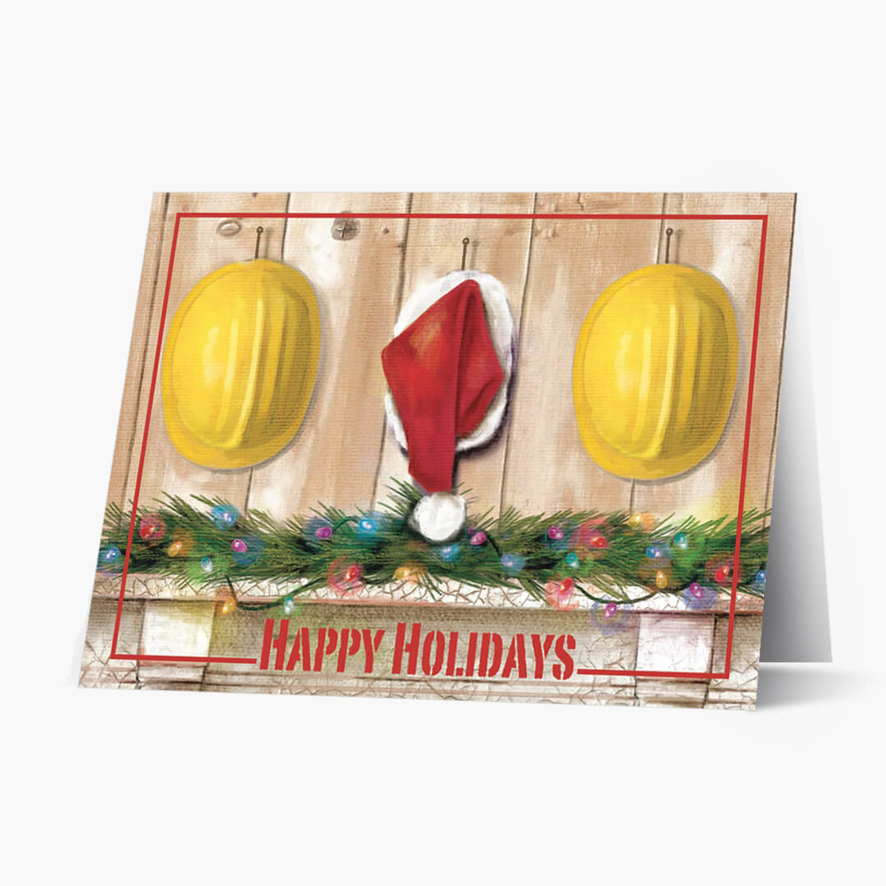 Construction Hats Christmas Card
