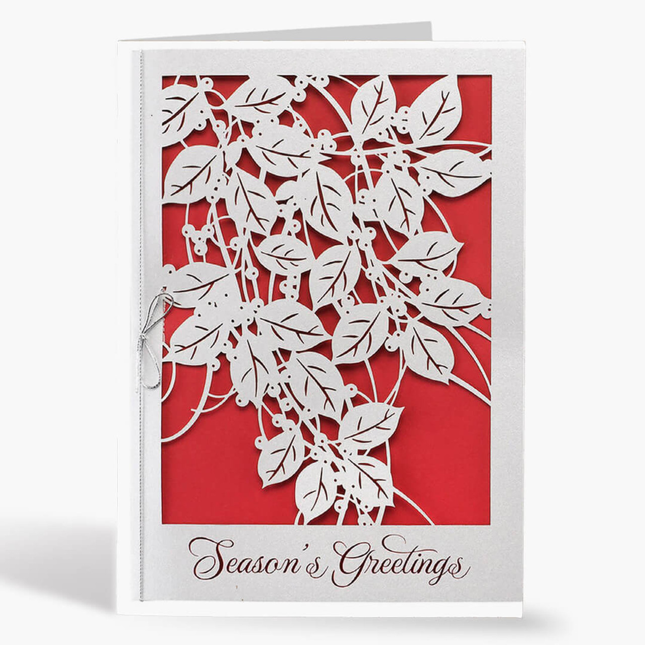 Berries and Leaves Christmas Card
