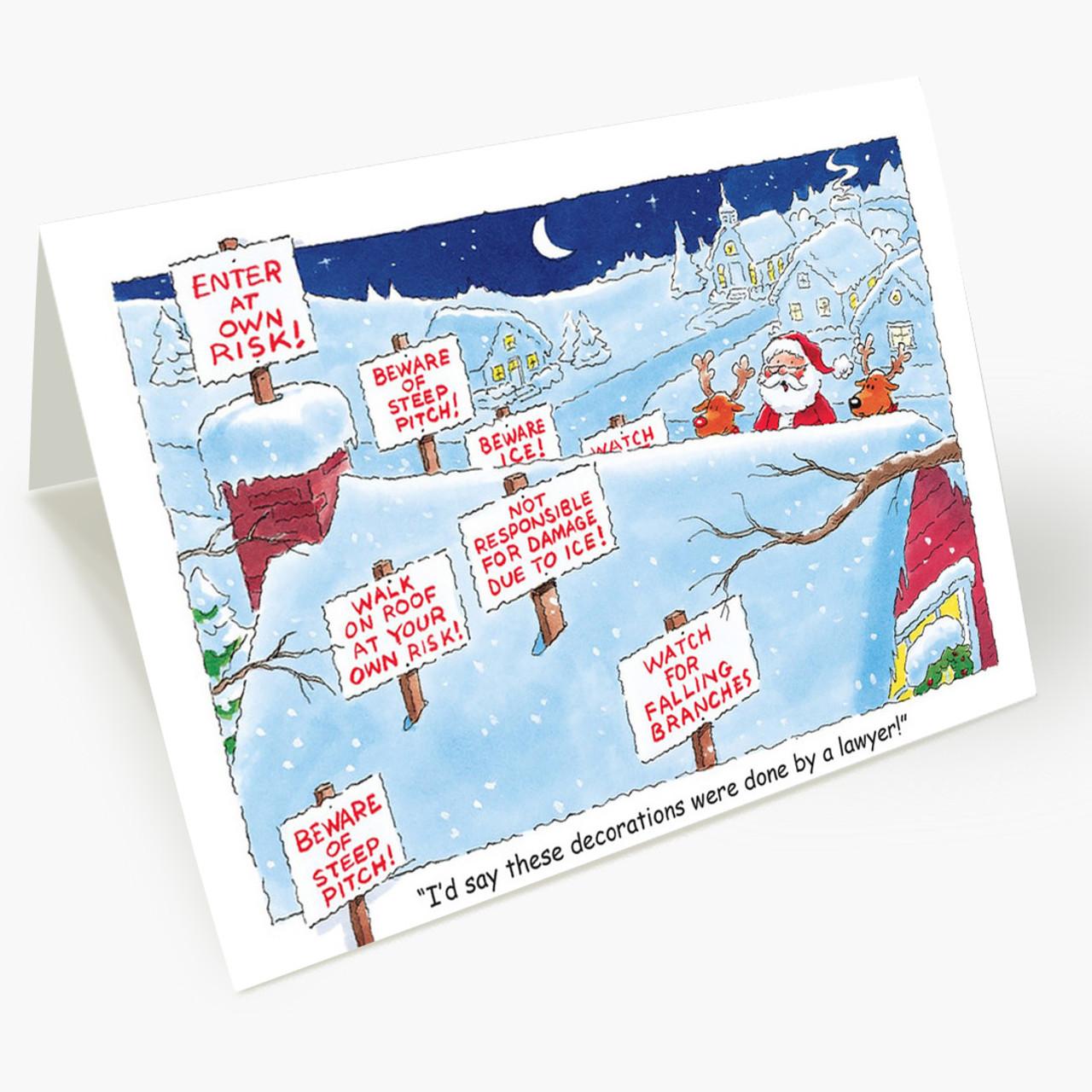 Lawyer Holiday Decor Christmas Card