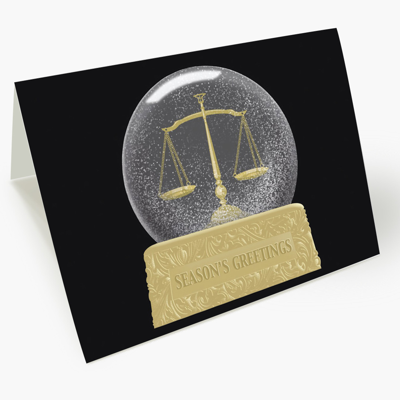 Snowglobe Scales Christmas Card