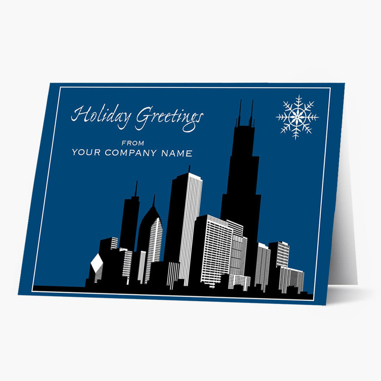 Chicago Silhouette Christmas Card