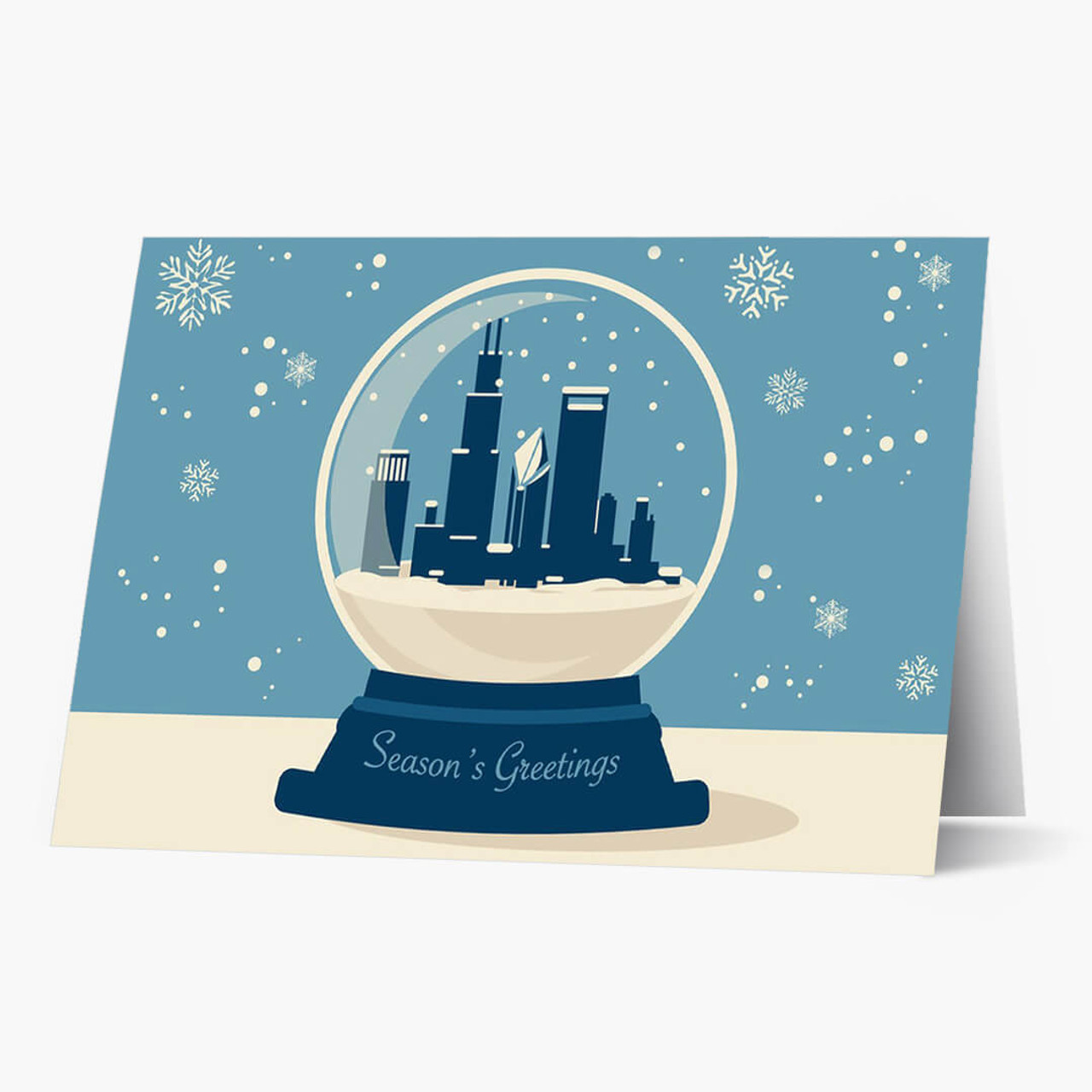 Chicago Snowglobe Christmas Card
