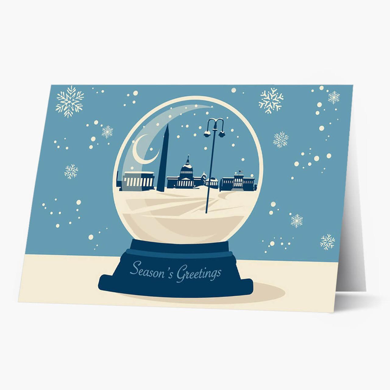 DC Snowglobe Christmas Card