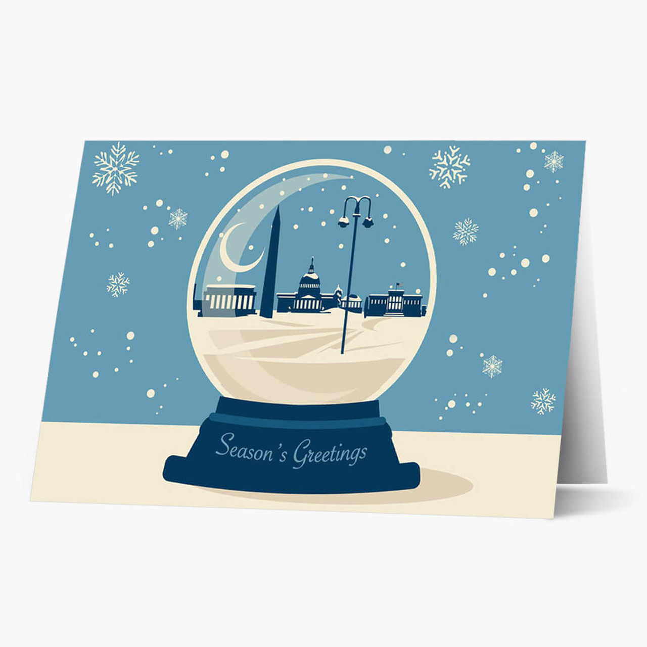 DC Snowglobe Christmas Card