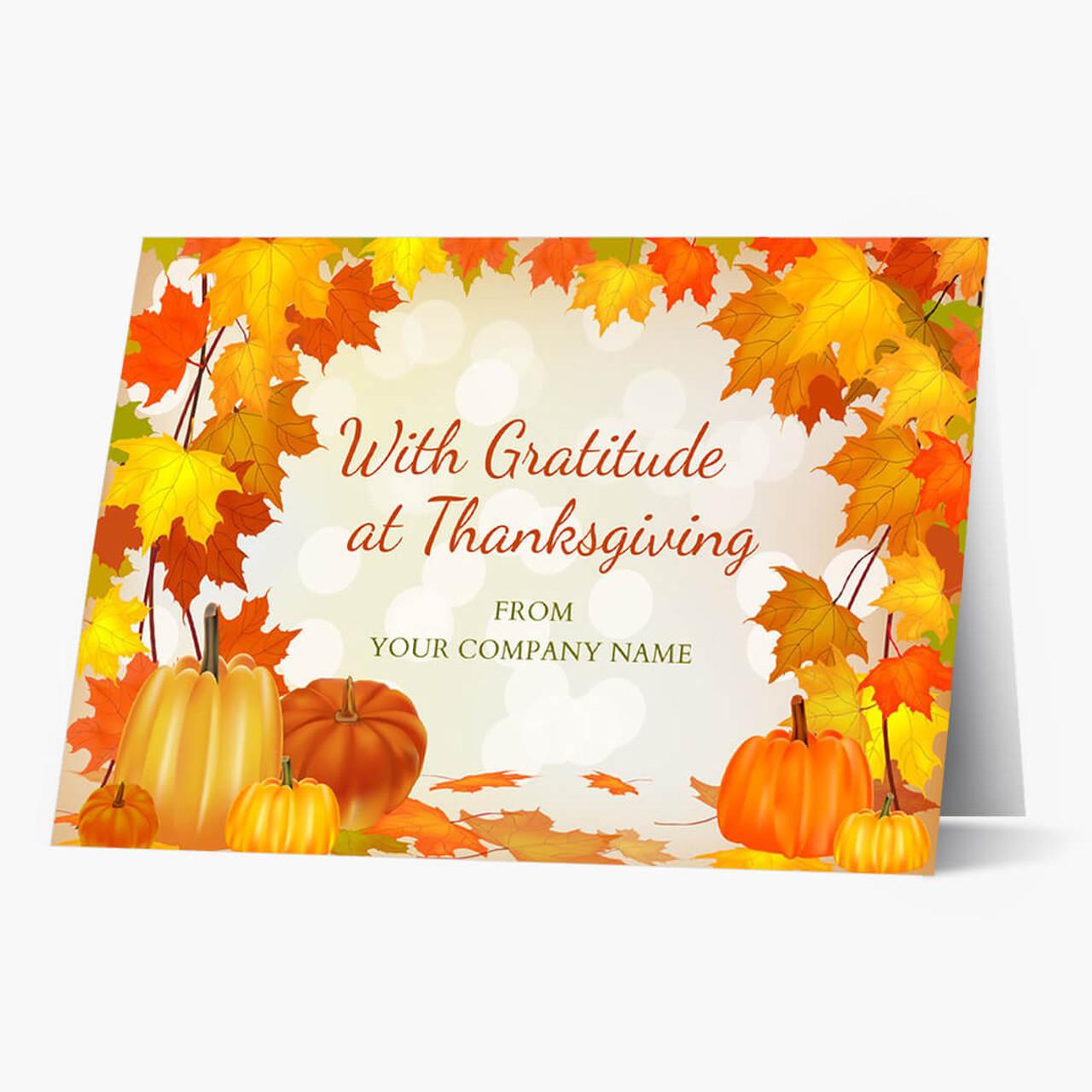 Gratitude At Thanksgiving Card