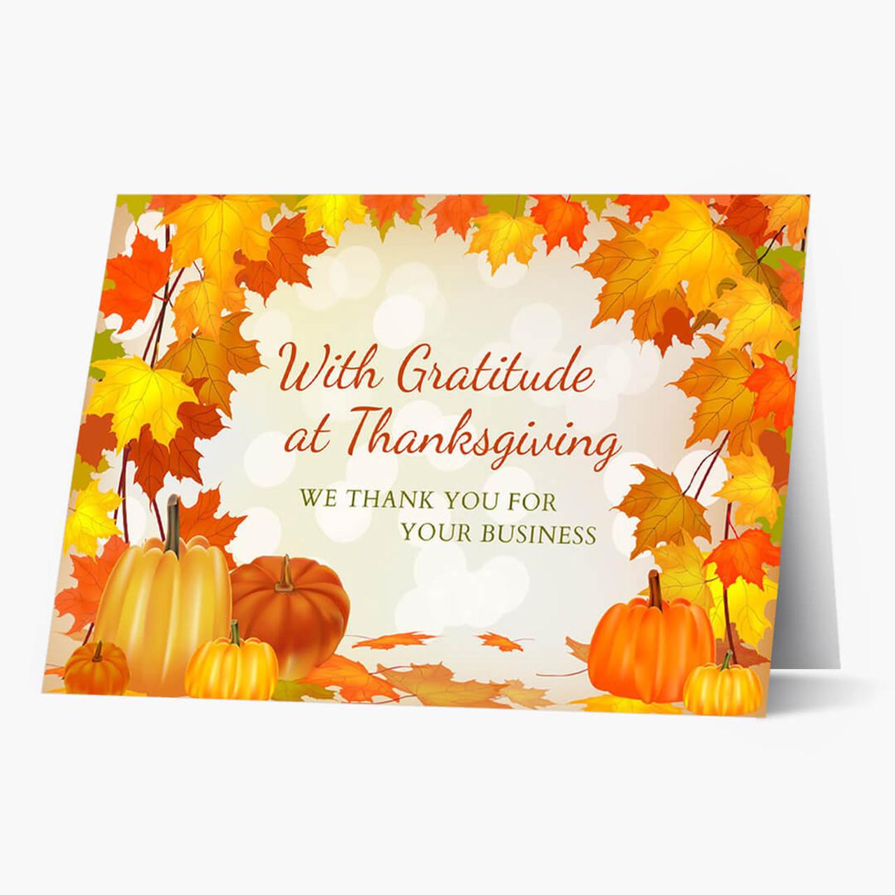Business Gratitude Thanksgiving Card