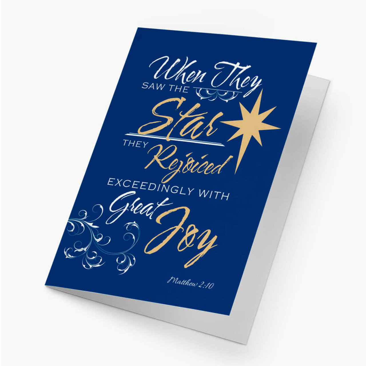 Rejoiced With Joy Christmas Card