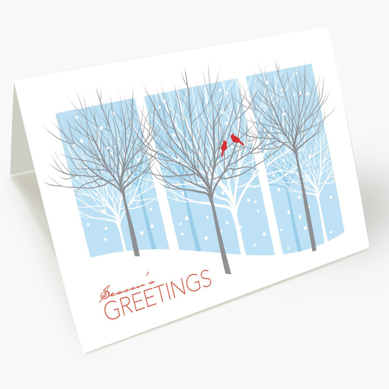 Treeline Windows Christmas Card
