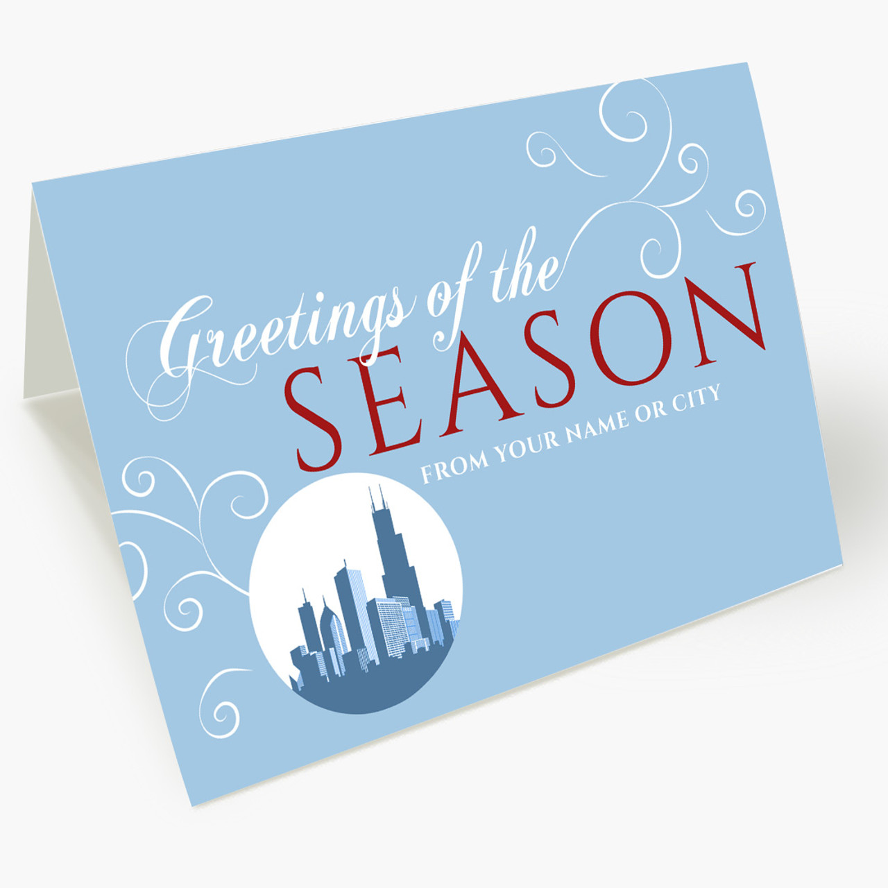A Chicago Greeting Christmas Card