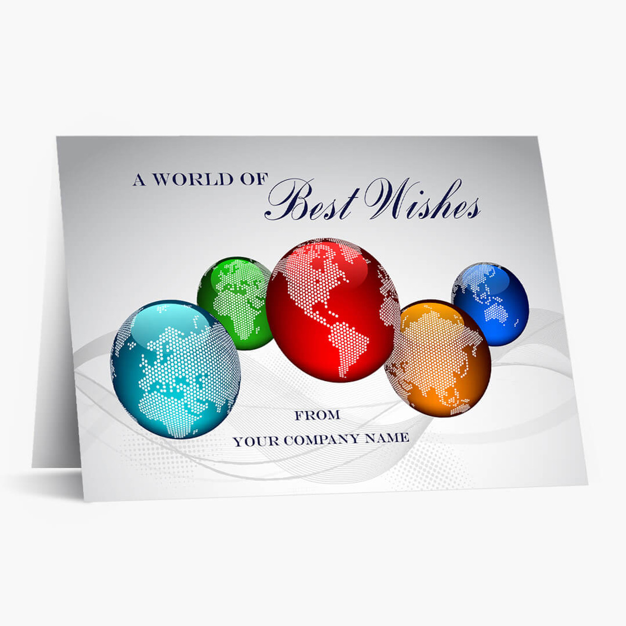 Colorful World Wishes Christmas Card