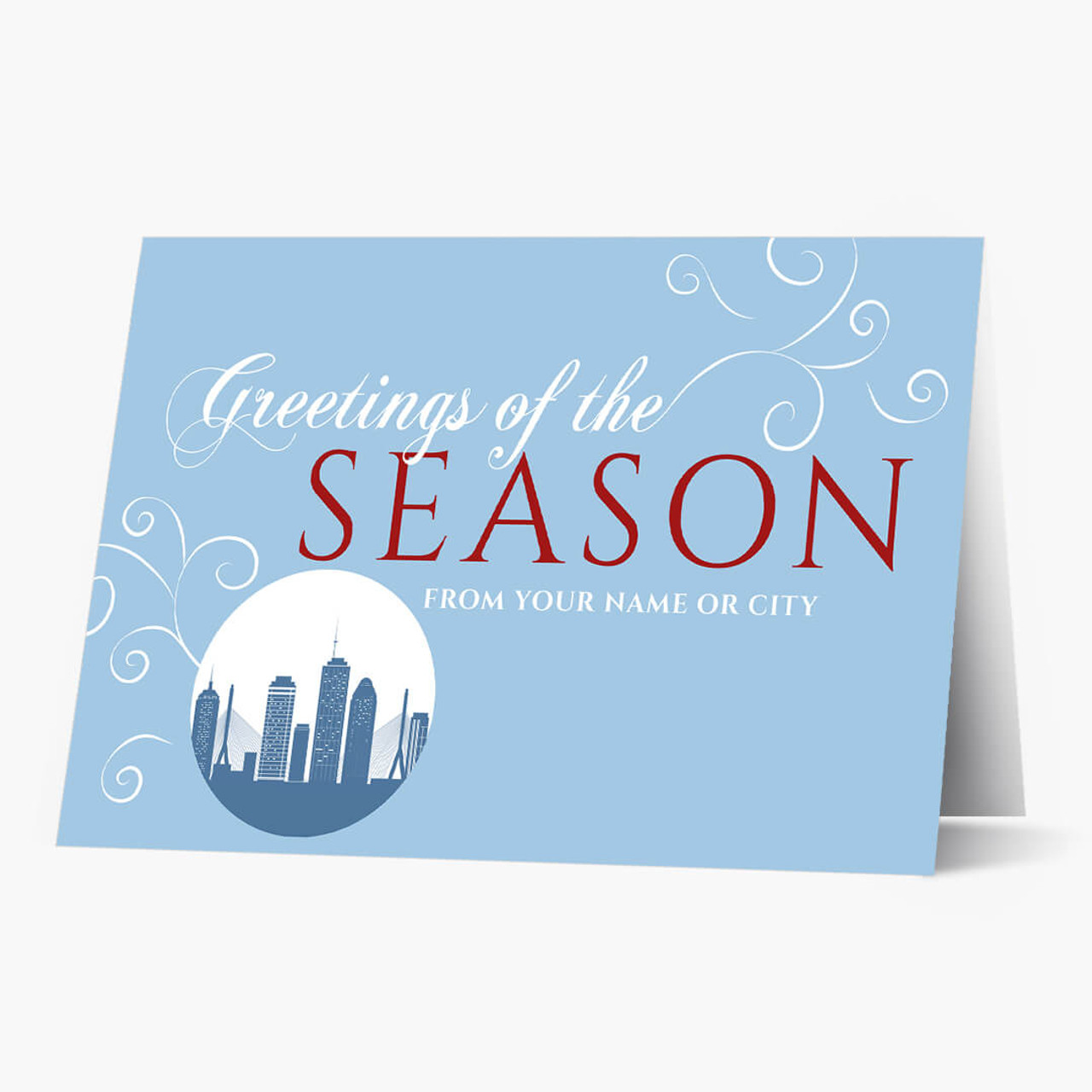 A Boston Greeting Christmas Card