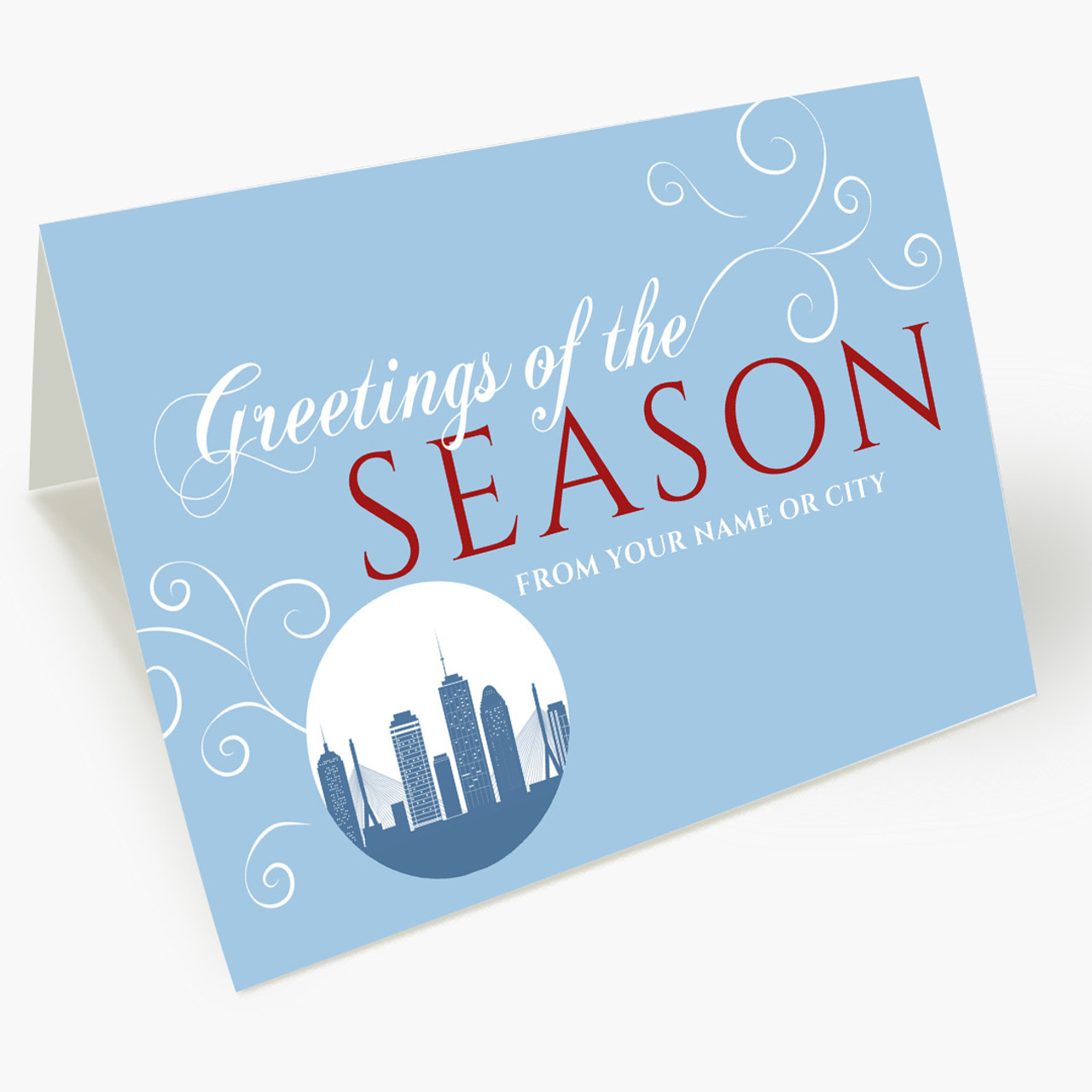 A Boston Greeting Christmas Card