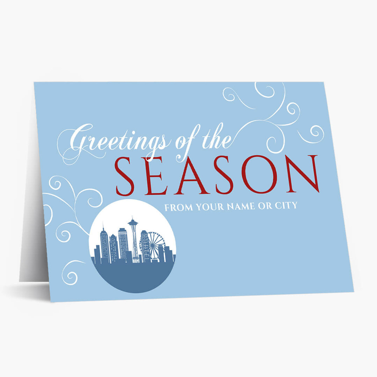 A Seattle Greeting Christmas Card