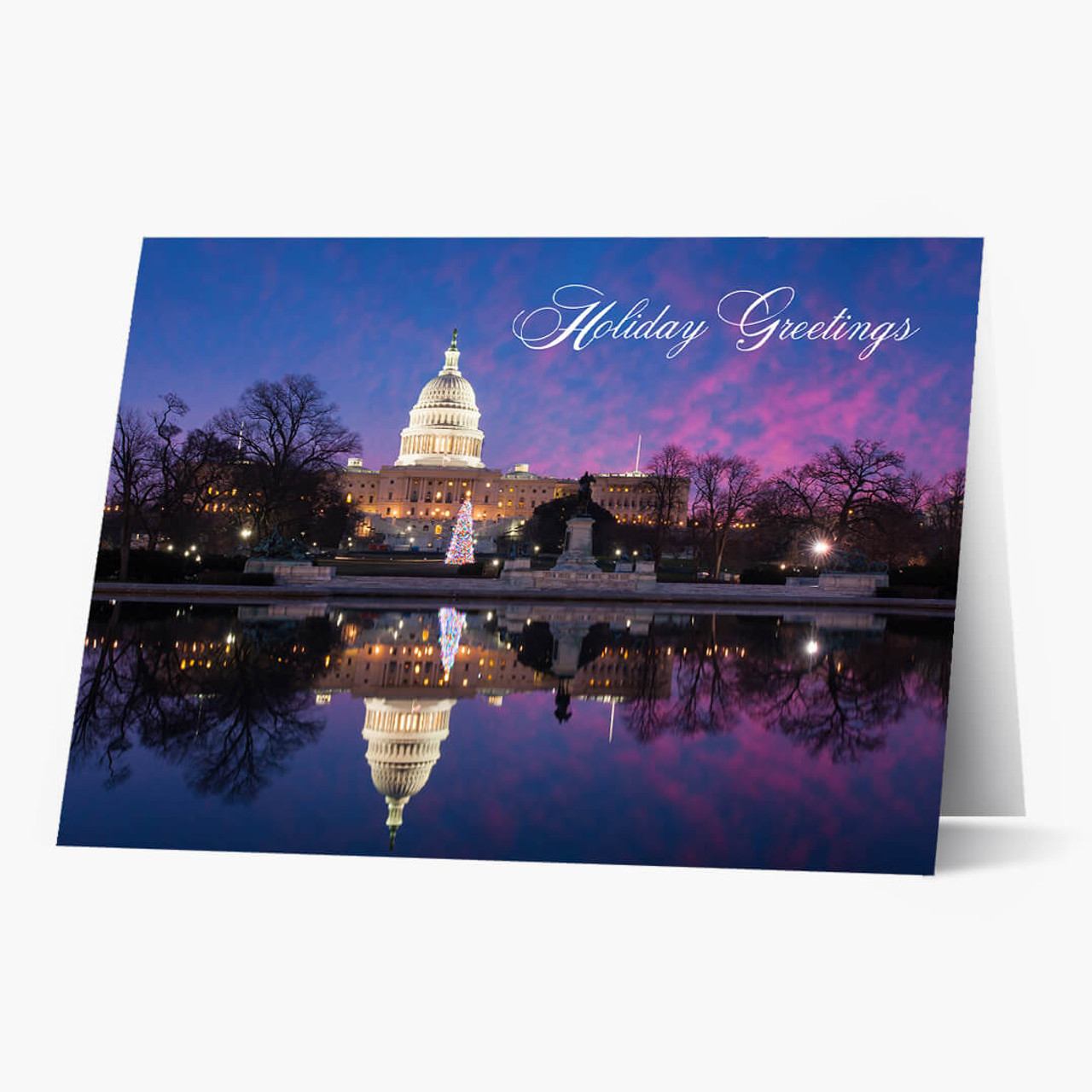 DC Capitol At Sunset Christmas Card