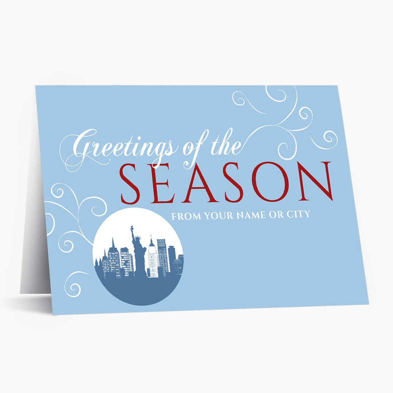 A New York Greeting Christmas Card