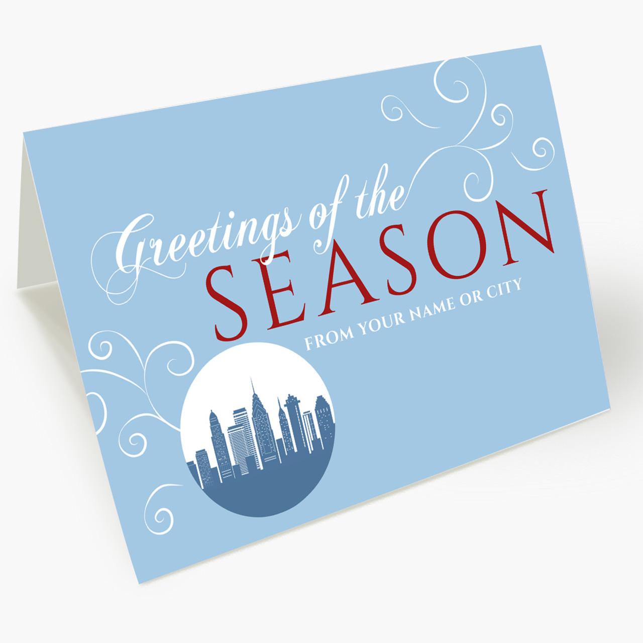 A Philadelphia Greeting Christmas Card