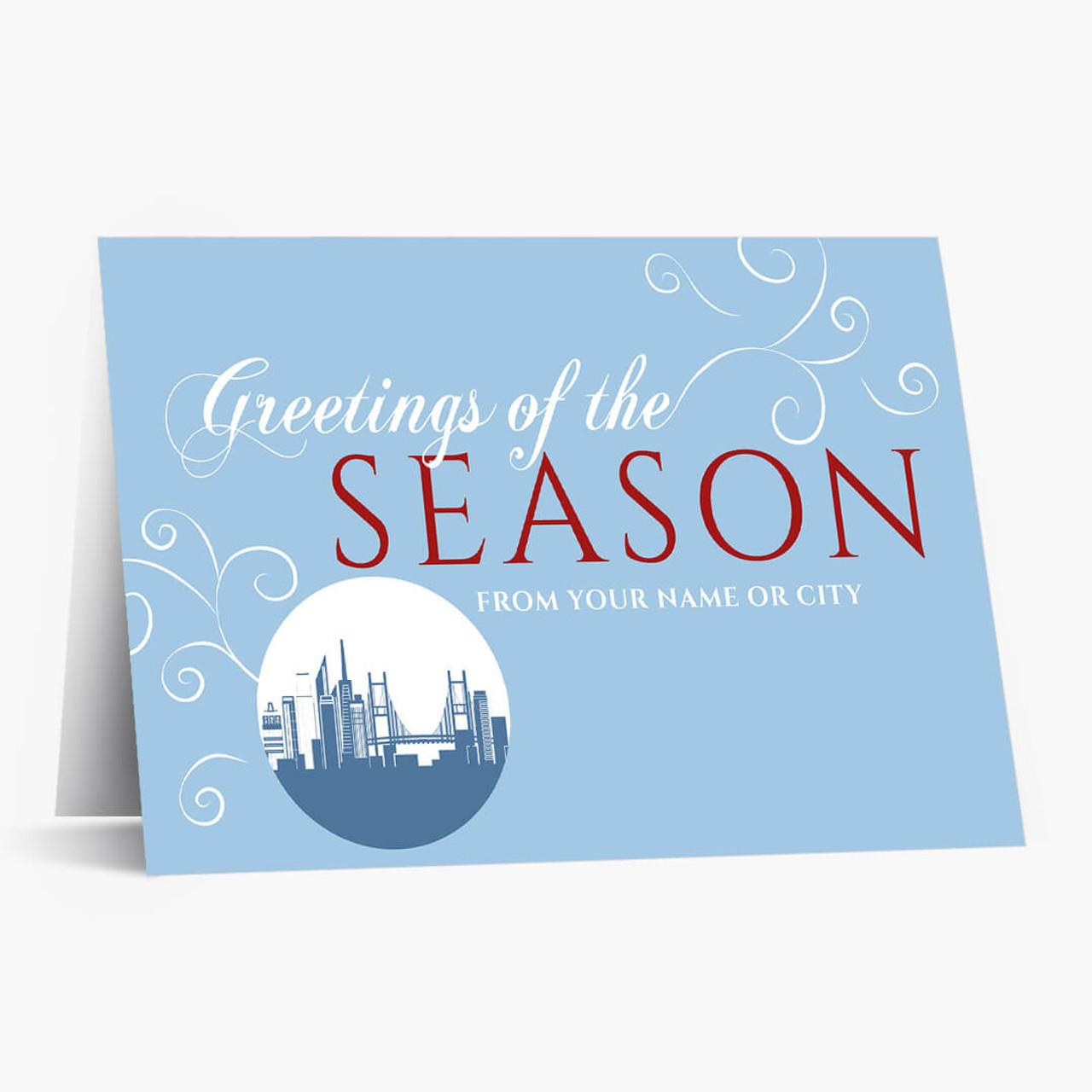 A San Francisco Greeting Christmas Card
