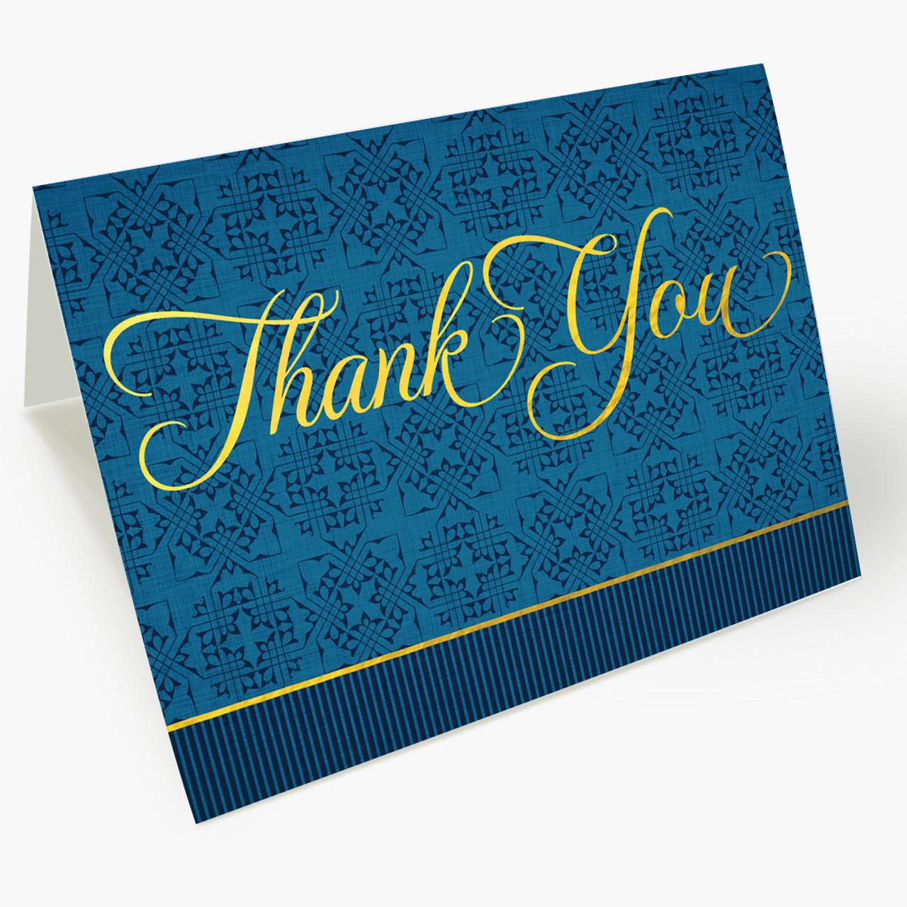 Regal Thank You Christmas Card