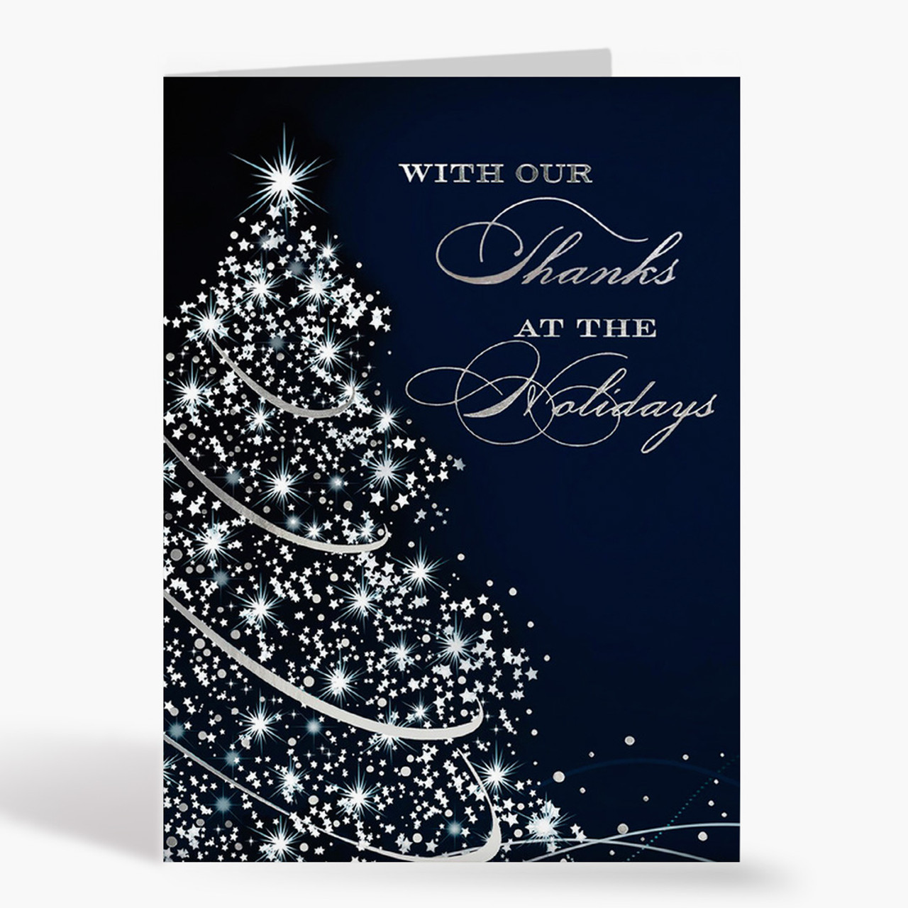 Sparkling Thanks Christmas Card