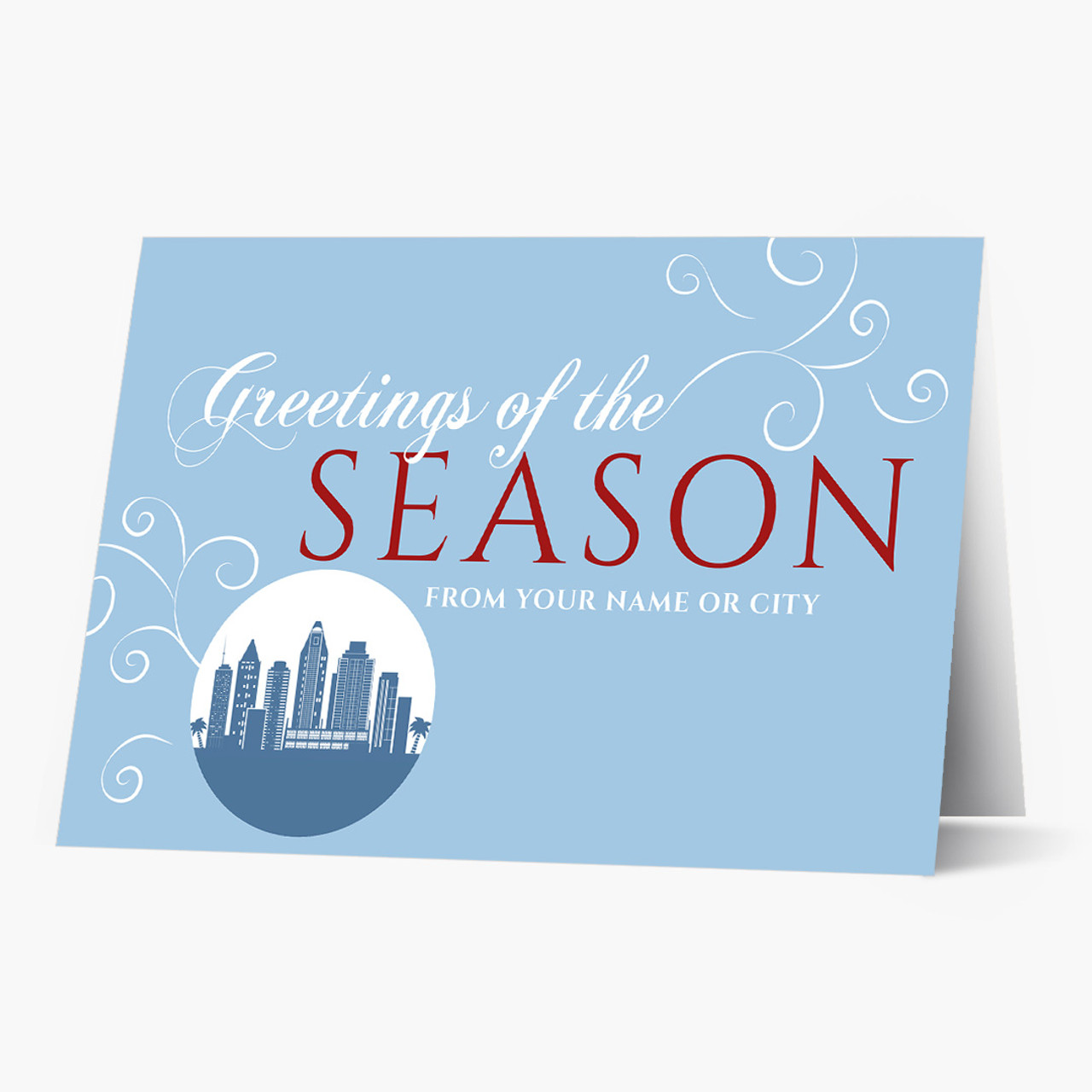 A San Diego Greeting Christmas Card