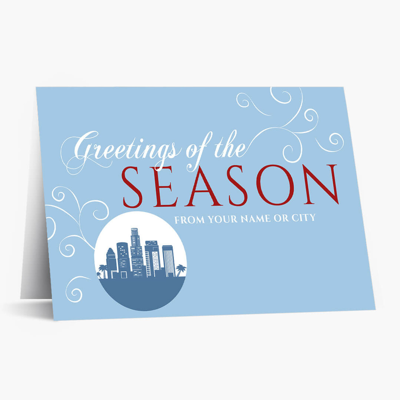 A Los Angeles Greeting Christmas Card