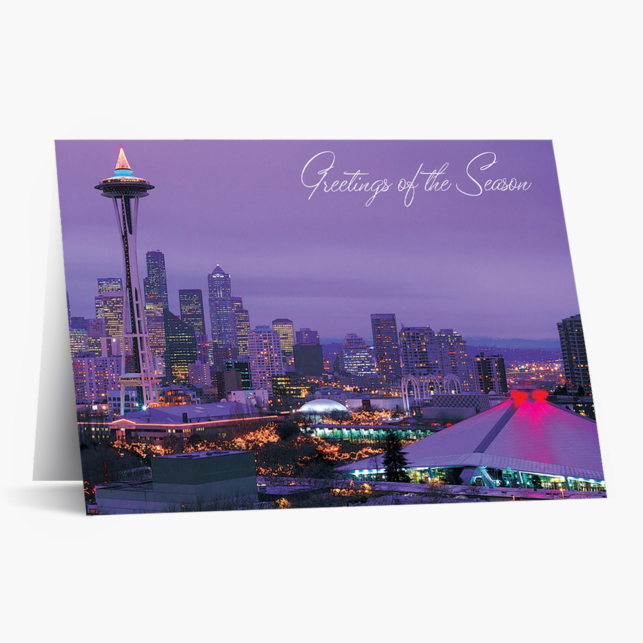 Seattle Panoramic Christmas Card