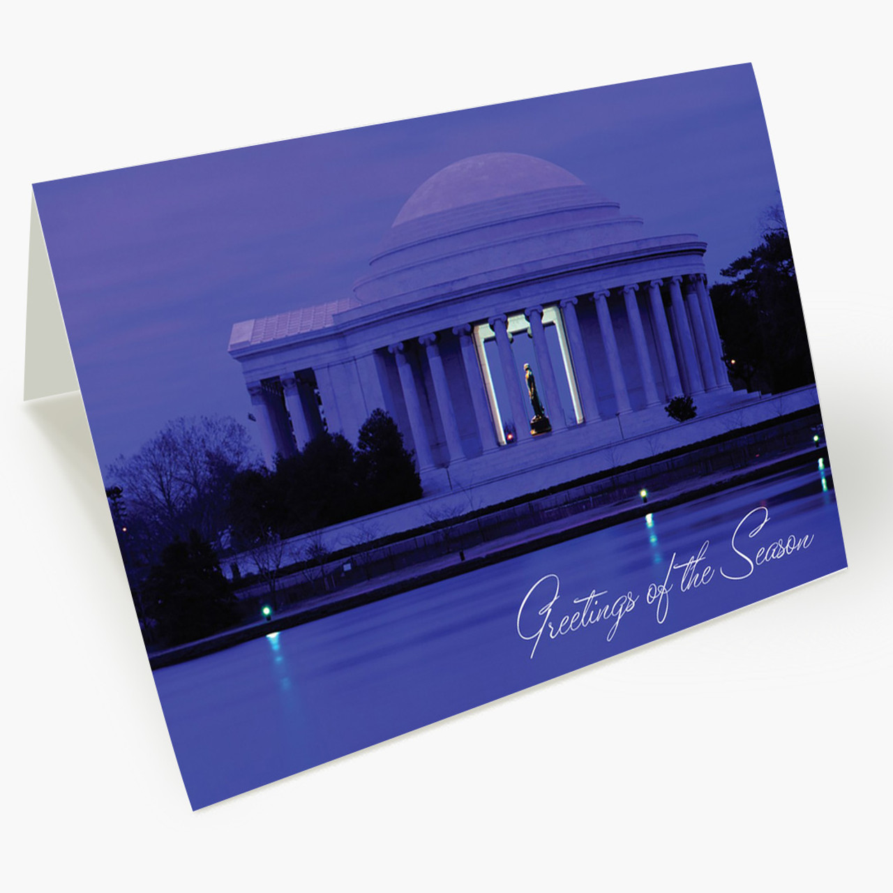 Washington DC Panoramic Christmas Card